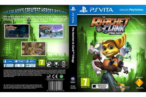 Capa The Ratchet & Clank Trilogy PS Vita - Gamecover ...