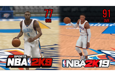 NBA 2K 10 Year Challenge: NBA 2K9 - NBA 2K19 - YouTube