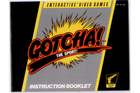 Manual Gotcha Sport Nintendo NES Instructions For Sale ...