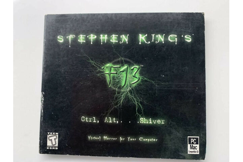 Rare Stephen King's F13: Ctrl, Alt, Shiver, Interplay ...
