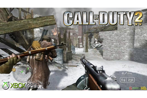Call of Duty 2 - Gameplay Xbox 360 (Release Date 2005 ...