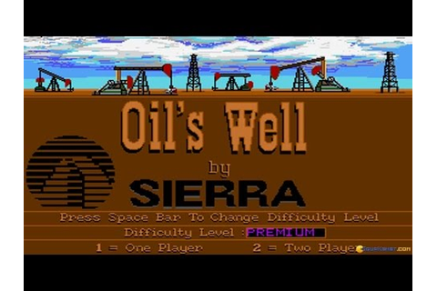 Oil's Well (Sierra, 1990) gameplay (PC Game, 1990) - YouTube