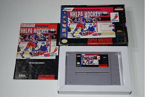 NHLPA Hockey '93 Super Nintendo SNES Video Game Complete ...