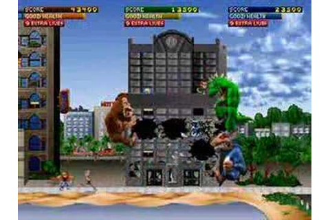 Rampage World Tour - 3 players game play - YouTube