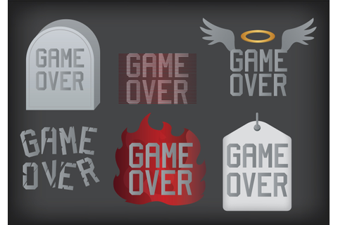 Game Over Vector - Download Free Vectors, Clipart Graphics ...