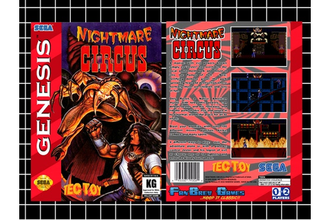 SPECIAL ORDER Nightmare Circus Unreleased Sega by FanBrewGames