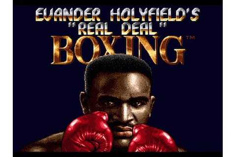 CGRundertow EVANDER HOLYFIELD'S REAL DEAL BOXING for Sega ...