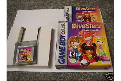 Diva Starz Mall Mania Game Boy Color Complete 020626712798 ...