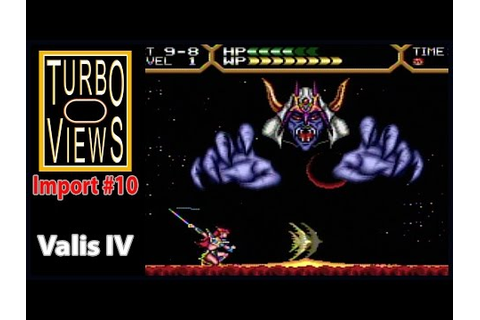 """Valis 4"" - Turbo Views Import #10 (PC-Engine game REVIEW ..."