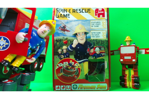 New Fireman Sam the Firefighter Spin and Rescue Game ...
