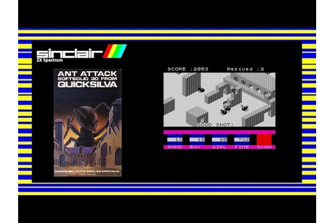 ANT ATTACK - ZX Spectrum Game Review - YouTube