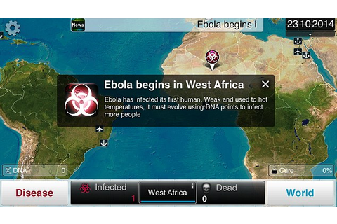 Ebola boosts sales of iPhone game which makes players wipe ...