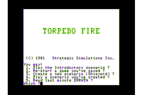 Download Torpedo Fire (Apple II) - My Abandonware