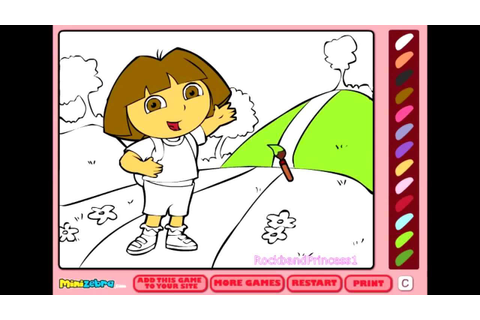 Free Dora Coloring Games Online - Coloring Pages For Kids ...