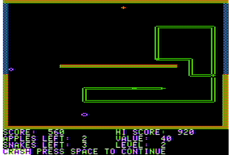 Snake Byte Screenshots for Apple II - MobyGames