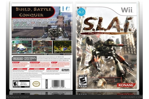 S.L.A.I. - Steel Lancer Arena International Wii Box Art ...