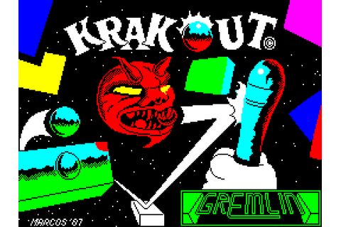 Krakout (1987) by Gremlin Graphics ZX Spectrum game
