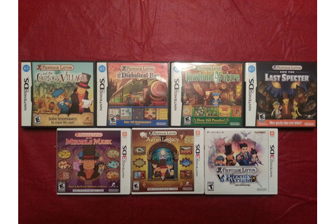 Mini collection complete! All of the Professor Layton ...