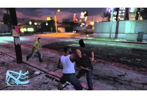 GTA V Cholo Gang Fist Fight In The Hood - YouTube