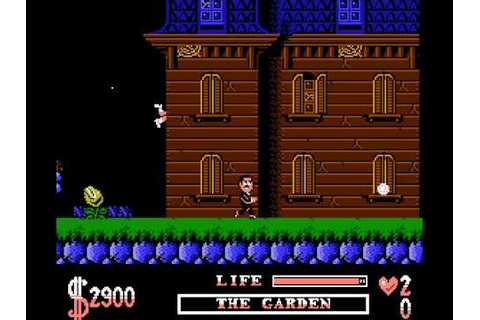 The Addams Family (Nintendo NES) - YouTube