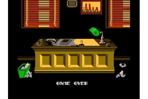 Dick Tracy (NES) game over - YouTube