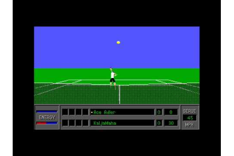 4D Sports Tennis for the PC (DOS) - YouTube