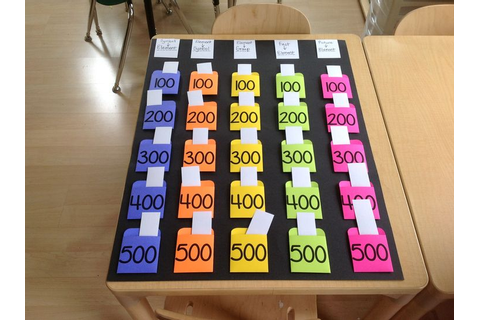 Just finished my reusable JEOPARDY BOARD - pockets made ...