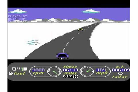 C64 Longplay - The Great American Cross-Country Road Race ...