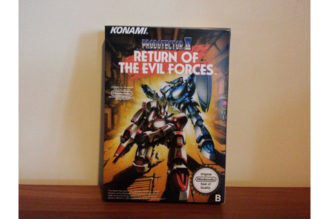 NES Probotector 2 Return of the Evil Forces Repro Box No