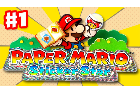 Paper Mario Sticker Star - Gameplay Walkthrough Part 1 ...