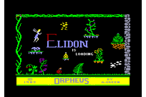 Elidon by Orpheus on Amstrad CPC (1985)