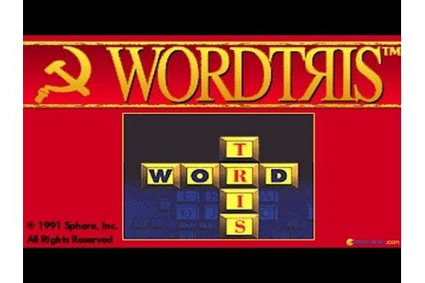 Wordtris gameplay (PC Game, 1992) - YouTube