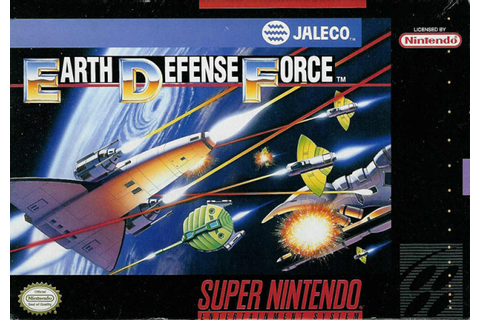 Earth Defense Force SNES Super Nintendo