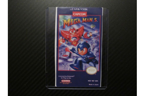 Mega Man 5 Megaman 5 Nes Replacement Game Label Sticker ...