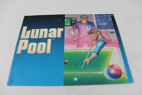 Manual - Lunar Pool - Nes Nintendo