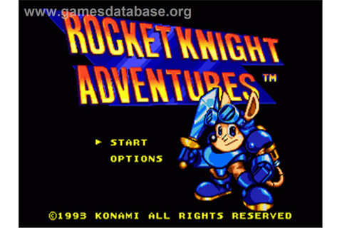 Rocket Knight Adventures - Sega Genesis - Games Database