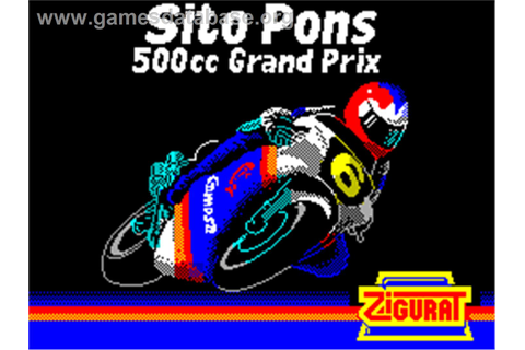 Sito Pons 500cc Grand Prix - Sinclair ZX Spectrum - Games ...