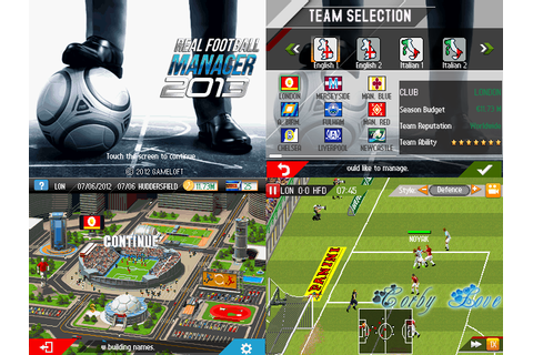 Real Football Manager 2013 240 x 320 Touchscreen Mobile ...