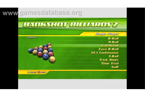 Bankshot Billiards 2 - Microsoft Xbox Live Arcade - Games Database