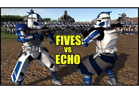 Fives and Echo Battle Against Each other! - Men of War ...