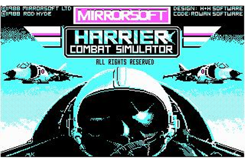 Harrier Combat Simulator Download (1987 Simulation Game)
