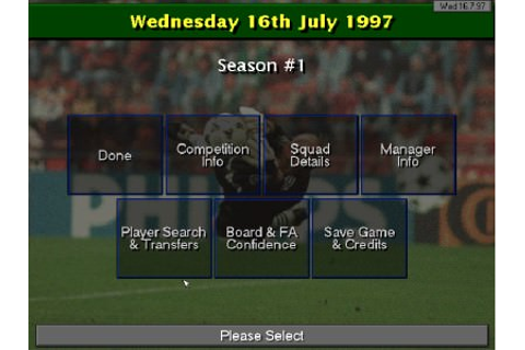Championship Manager: Season 97/98 - Play online