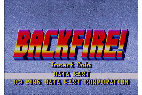 Backfire! - Videogame by Data East