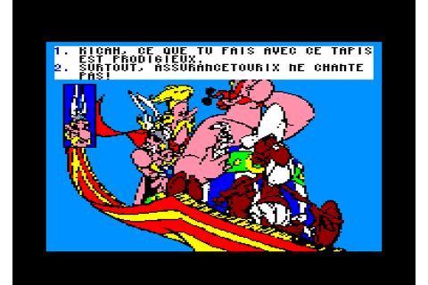 Asterix chez Rahazade by Coktel Vision on Amstrad CPC (1988)