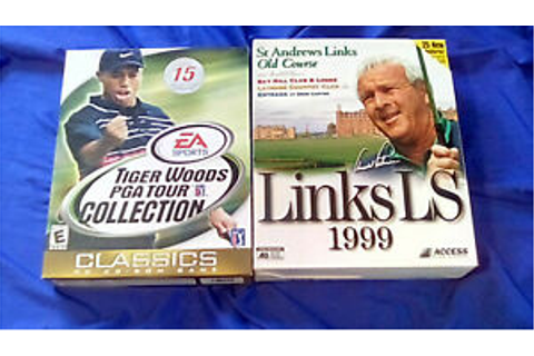 PC Golf Game Lot (Links LS 1999 and Tiger Woods PGA Tour ...