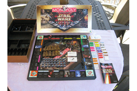 Monopoly Star Wars Episode 1 Board Game Collectors Edition ...