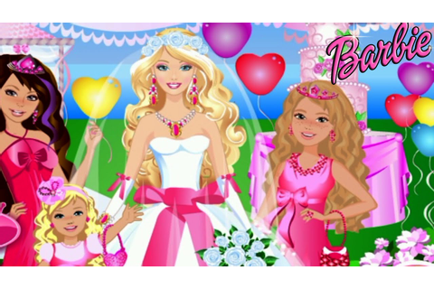 Barbie Wedding Party Dress Up Video Game for Girls - YouTube