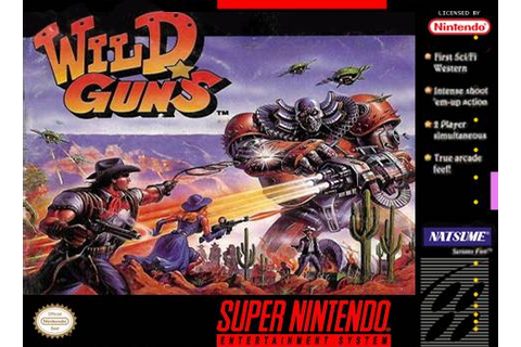 Wild Guns Super Nintendo Game