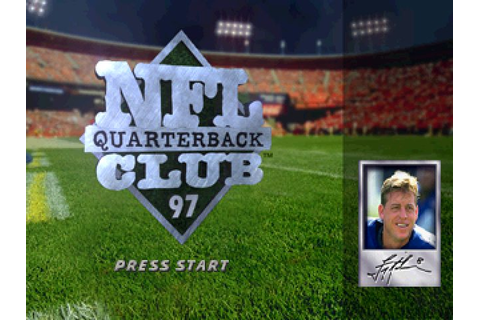 NFL Quarterback Club '97 (1996) PS game