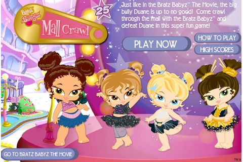 Bratz Babyz Mall Crawl Game - Bratz games - Games Loon